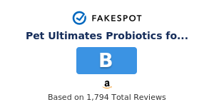 Fakespot Pet Ultimates Probiotics For Dogs 137 Grams Fake Review And Counterfeit Analysis